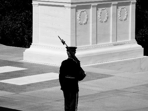 tomb of unknown soldier guard